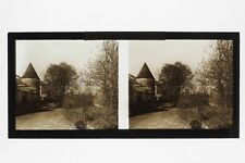 Provins Tours France Photo C34 stereo Plaque de verre Vintage 1927