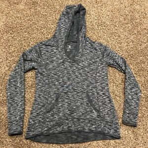 tangerine womens M gray athletic hoodie polyester blend a16
