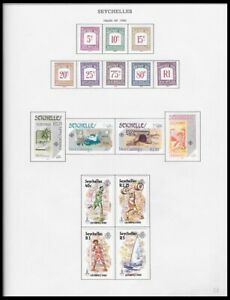 SEYCHELLES 1980 ISSUES ON 4 PAGES (LHM/UHM) *CLEAN & FRESH*