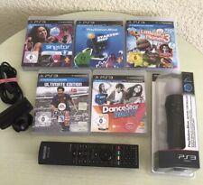 Original Move Controller + Kamera +5 Spiele für Play Station 3 PS3. Blitzversand