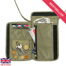 Foldable Neck Pouch Money Belt Wallet for Passport Carrying and Valuables Hiding