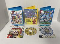 *New* Super Mario Bros U Maker & 3D World Bundle Lot Nintendo Wii U