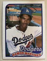 1989 Topps Ramon Martinez Baseball Card Rookie #225 Dodgers High Grade W Ding