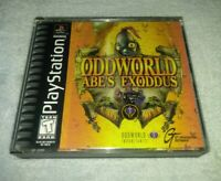 Oddworld Abe's Exoddus PS1 Sony PlayStation 1 Complete W/ Manual RPG black Label