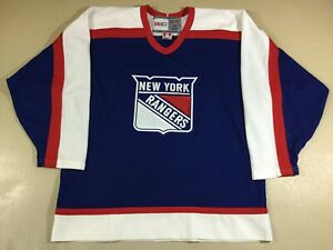 Vintage New York Rangers Hockey NHL CCM Jersey SizeL