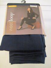 New WEST LOOP Women's Fleece Leggings Navy One Pair  Size L/XL 12-16