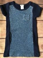Crewcuts dress size 5 Girls Blue Sweatshirt Pockets Boutique J. Crew Youth