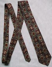 Vintage Tie Mens Necktie Retro PSYCHEDELIC BROWN COPPER