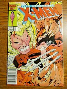 Uncanny X-men #213 Newsstand Key VF Wolverine vs Sabretooth Cover 1st Pr Marvel