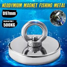 500KG D97mm Pull Strong Magnet Neodymium Fishing Salvage Detecting Treasure UK
