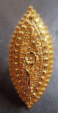 22K Gold Plated Indian 5 cm Long Designer Wedding Bridal Adjustable Finger Ring