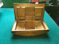 Lovely Antique Art Deco Wooden Cigarette Dispenser & Match compartments