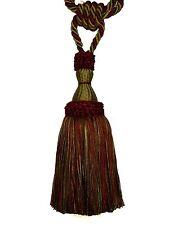Trimland Amazonas 3317-13 1511 Crimson Sage Gold Drapery Single Tassel Tieback