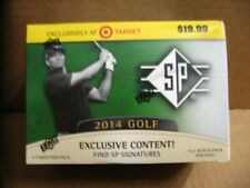 2014 Upper Deck SP Authentic Golf 8 Pack Box / 4 Cards Blaster Tiger Woods Rare