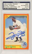 Frank Thomas Chicago White Sox Autographed 1990 Score Traded Rookie #861 Card