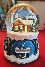 Nib It's A Wonderful Life Light Up Musical Snow Globe 2004 Enesco