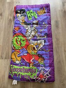 Vintage Goosebumps Sleeping Bag Skateboarding Mummy R.L. Stine 90s Horror