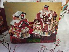 Grandeur Noel Snow Flake Village General Store & Fire Station w/box