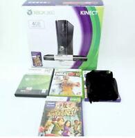 Xbox 360 4gb Bundle 3 Games 1 Controller Kinect Sensor Box Hdmi Tested Works