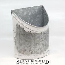 Large Galvanized Wall Pocket - Hanging File Planter - Pre-Hung Vase