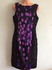 Stunning Coast multi colour spotty sleeveless ruffle sides bodycon dress Size 10