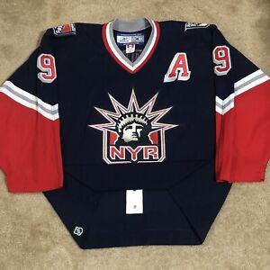 Reebok Authentic Adam Graves New York Rangers Lady Liberty NHL Hockey Jersey 52
