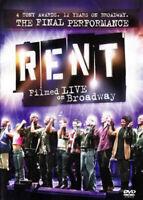 Rent: Filmed Live on Broadway DVD NEW