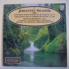 33T J BRAHMS Disque LP 12 HAYDN A GRUMIAUX Violon VAN BEINUM MUSIQUE ALPHA N° 53