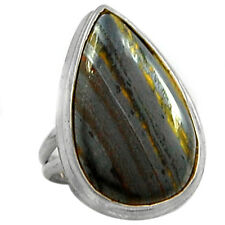 Iron Tiger Eye 925 Sterling Silver Ring Jewelry s.7 ITER184