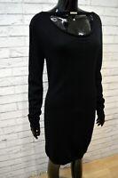 Vestito Tubino Nero Donna LIU JO Taglia L Abito Maglia Lunga Dress Women Casual