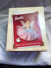 2003 Barbie Swan Lake Hallmark Keepsake 2 piece Ornament QXI8447 with box