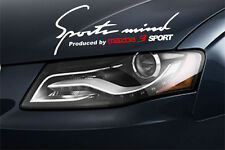 Sports Mind Produced by MAZDA 3 SPORT Decal sticker emblem logo  White