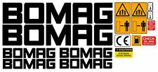 BOMAG VIBRATING ROLLER DECALS STICKERS