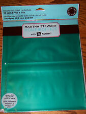 "6 packs of 10 Martha Stewart Office Avery 2 Pocket Sheet Protectors 8 1/2"" x 11"""