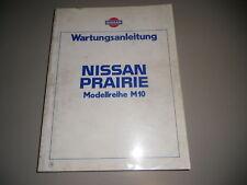 Werkstatthandbuch Nissan Prairie M10 Stand 01/1983