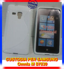 Pellicola + Custodia cover case WAVE BIANCA per Samsung Omnia M S7530 (B8)