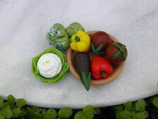 Miniature Dollhouse FAIRY GARDEN Accessories ~ 7 Piece Assorted Vegetables ~ NEW