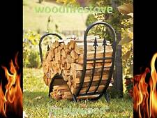 Wood Rack / FIREWOOD STORAGE 'Applewood' Wrought Iron Curved Alfresco Log Holder