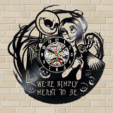 The Nightmare Before Christmas Vinyl Wall Clock Record Gift Decor Sing Feast Day