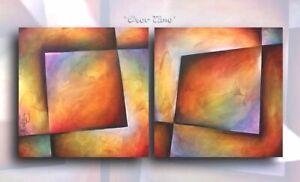 Abstract Painting Modern Contemporary Original Art Decor Mix Lang cert. unique