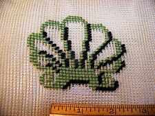"Vintage Bucilla Needlepoint Canvas Scalloped Sea Shells About 23"" x 23""   S2."