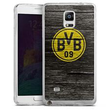 Samsung Galaxy Note 4 Silikon Hülle Case - BVB Holzoptik