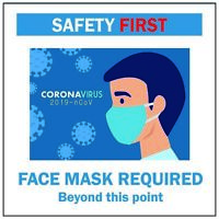 Face Mask Required Sign – Reusable Static Cling Sticker 5.5 Inch for Business