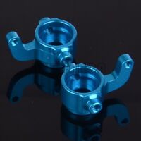 BLUE Aluminum Knuckle Arms M603 For Himoto 1/18 E18XBL Elcetric Spino Buggy