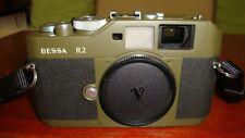 [Voigtlander Bessa R2 Olive Body 35mm SLR Film Camera From JAPAN MINT Cond