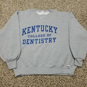 Vtg USA Russell Athletic University of Kentucky Dentistry Sweatshirt Size Large