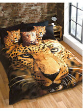 LEOPARD TIGER ANIMAL PRINT KING  bed QUILT DOONA COVER SET NEW