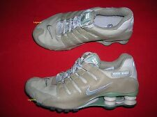 Nike Shox NZ ID Running Shoe Sneaker Khaki Green Women 8 Leather Mesh Beige Nice
