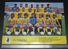 CLIPPING POSTER FOOTBALL 1985-1986 FC SOCHAUX MONTBELIARD FCSM BONAL LIONCEAUX
