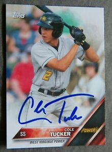 Pittsburgh Pirates Cole Tucker Signed 2016 Topps Pro Debut Minors Card Auto